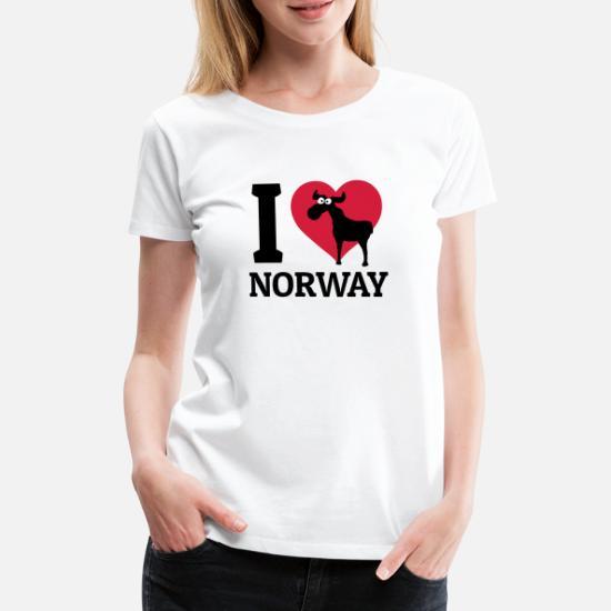af83c91d Norge T-skjorter - I love Norway jeg elsker norge - Premium T-skjorte