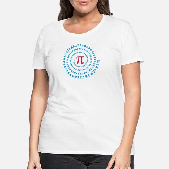 Math Pi π mathematics spiral irrational number Women's