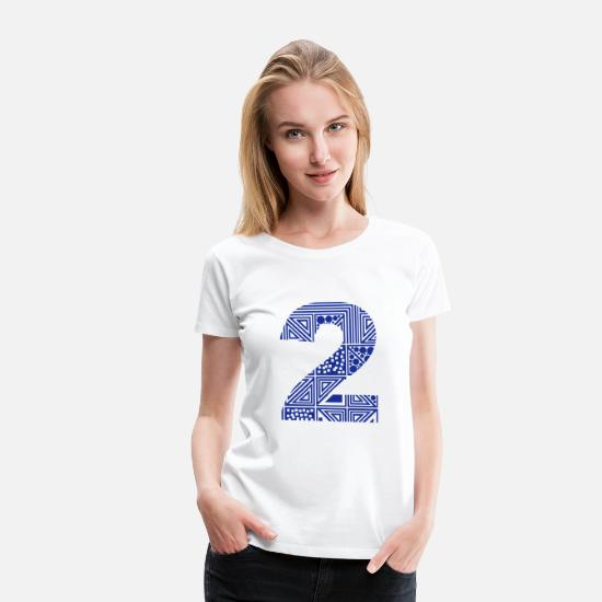 Date T-shirts - 2 number two - T-shirt premium Femme blanc