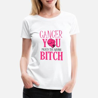 Funny Breast Cancer Cancer - you picked the wrong - Women's Premium T-Shirt