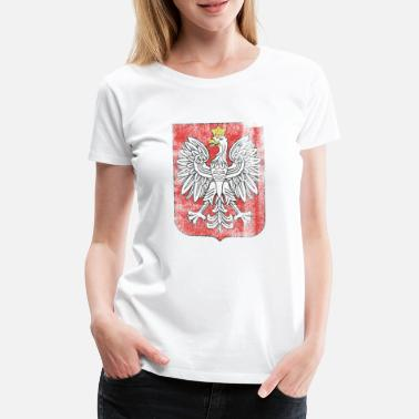 Suit Of Armor Polish Coat of Arms Poland Symbol - Premium-T-shirt dam