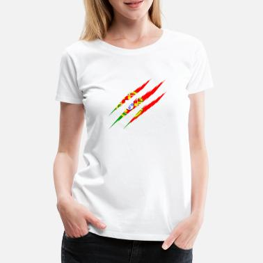 Claw Portugal flag scratches claws cut scratch marks - Women's Premium T-Shirt