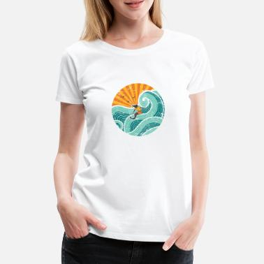 Sommer Ts & Tanks Surferin gelb/orange - Frauen Premium T-Shirt