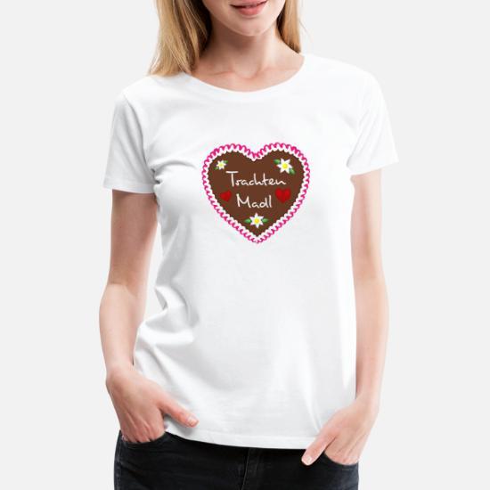 4ce3188f32 Lebkuchenherz Trachten Madl pink Frauen Premium T-Shirt | Spreadshirt