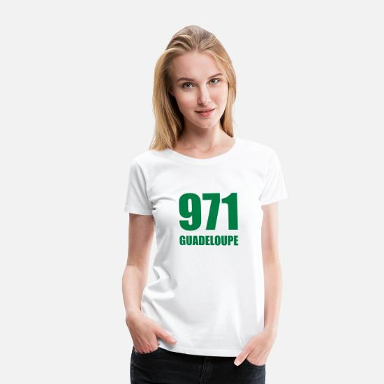 Guadalupe T-shirt - 971 Guadeloupe - Premium T-shirt dame hvid