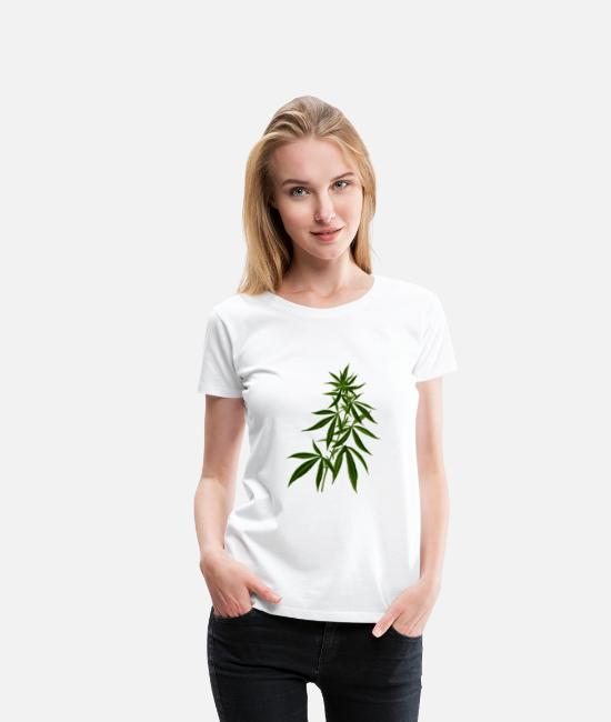 Garden T-Shirts - Grass, weed - Women's Premium T-Shirt white