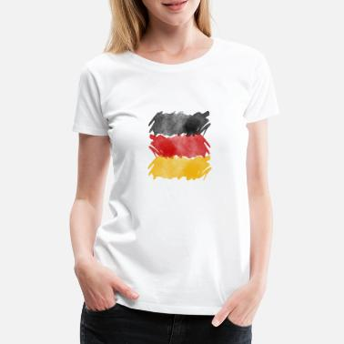 Germany flag, German flag. - Women's Premium T-Shirt