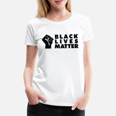 Facemask Black Lives Matter Raised Fist BLM Facemask - Camiseta premium mujer