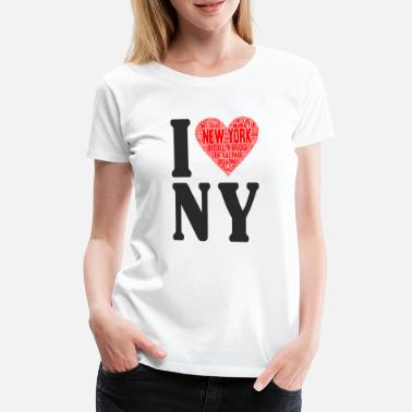 Love I love NY - Women's Premium T-Shirt