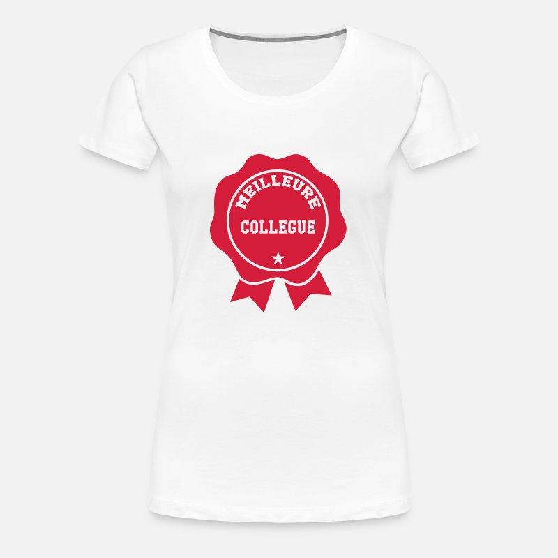 54b12617884de Meilleure Collègue Tee shirts T-shirt premium Femme | Spreadshirt