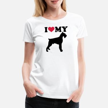 Pet giant schnauzer - Women's Premium T-Shirt