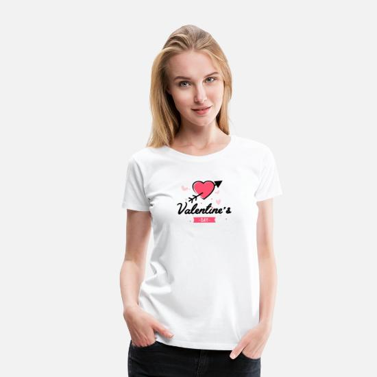 Day T-Shirts - valentine's - Women's Premium T-Shirt white
