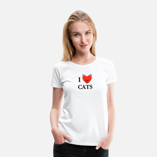 Love T-Shirts - Cats Love Gift cute pet - Women's Premium T-Shirt white