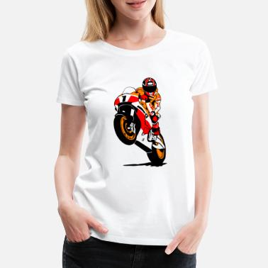 Racing Motorcycles Motorcycle racing - racing motorcycle - Women's Premium T-Shirt