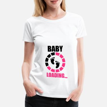 Pregnancy Baby laading, Funny pregnancy,pregnant - Women's Premium T-Shirt