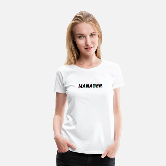 Office T-Shirts - Manager - Women's Premium T-Shirt white