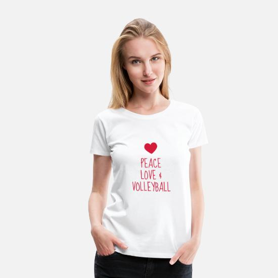 Ball T-Shirts - Volleyball - Volley Ball - Volley-Ball - Sport - Women's Premium T-Shirt white
