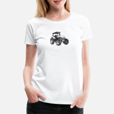 Mens Tractor Large Farm Tractor Construction Equipment Digger - Women's Premium T-Shirt