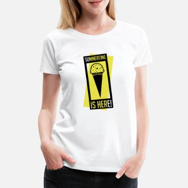 Waffel summertime_is_here_se2 - Frauen Premium T-Shirt