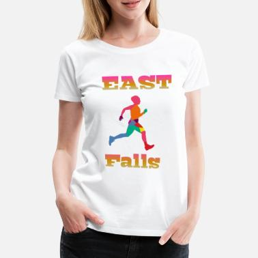 East Sussex East Falls - Vrouwen premium T-shirt