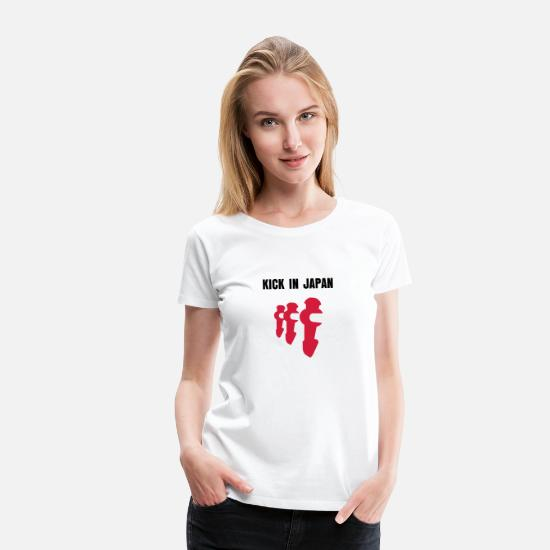 Fußball T-Shirts - Kick in Japan | Kicker-Shirt - Frauen Premium T-Shirt Weiß