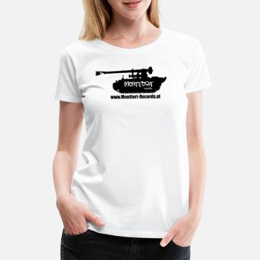 Tonarm Montfort Records Logo Black - Premium T-skjorte for kvinner