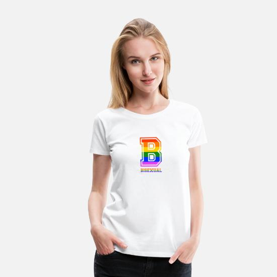 Lgbt T-Shirts - Bisexual LGBT Gay Pride Coming Out Rainbow - Frauen Premium T-Shirt Weiß