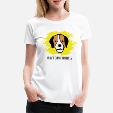 Mess Labrador is chewing furniture - Women's Premium T-Shirt
