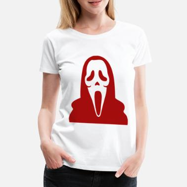 Allehelgens Aften Halloween Scream Mask Scream - Dame premium T-shirt