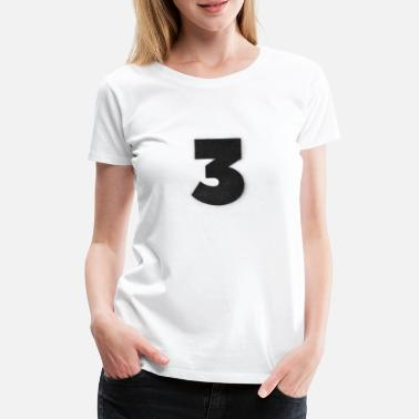 Graffiti Spraydose Numerals, Spray, Zahlen, 3, Graffiti, Street art - Frauen Premium T-Shirt