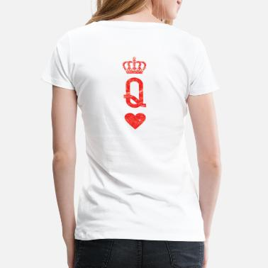 Hart Handen Queen crown heart queen crown heart poker shirt - Vrouwen premium T-shirt