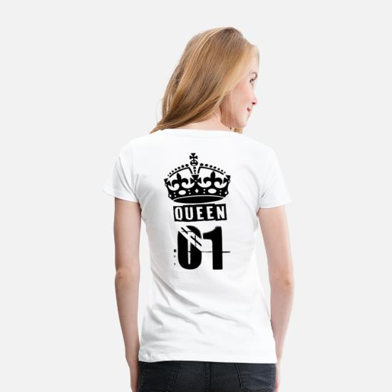 King Queen T-Shirts - Queen - Frauen Premium T-Shirt Weiß