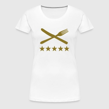 essen gabel u messer - Frauen Premium T-Shirt