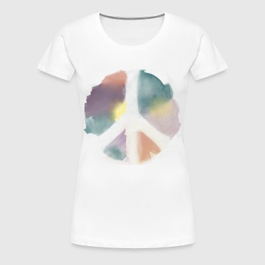 Water Color Peace Aquarell - Frauen Premium T-Shirt