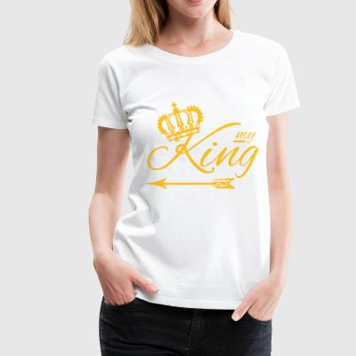 MY KING ♚ Arrow left luxury style (all colors) - Women's Premium T-Shirt