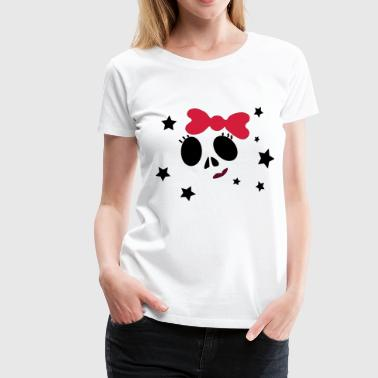 Girly Skull - Premium T-skjorte for kvinner