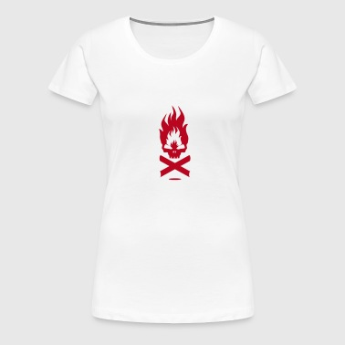 A fire symbol with skull - Women's Premium T-Shirt