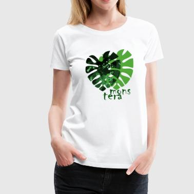 Monstera - Dame premium T-shirt