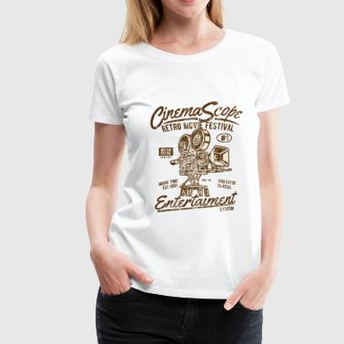 CINEMA SCOPE - Cinéma et appareil photo Shirt Design - T-shirt Premium Femme