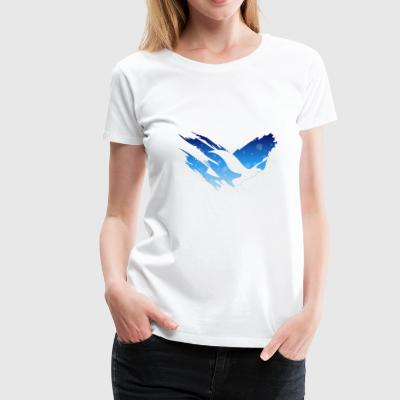 Space Atlas No Text Tee Blue - Women's Premium T-Shirt