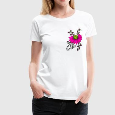 flower art - Women's Premium T-Shirt