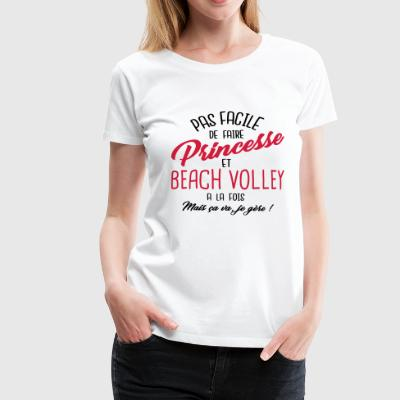 Princesse et beach volley - T-shirt Premium Femme