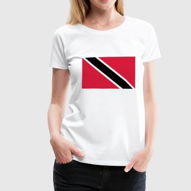 trinidad and tobago flag - Frauen Premium T-Shirt
