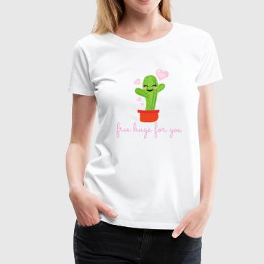 Free Hugs T-Shirt, Prickly Hugs T-Shirt - Women's Premium T-Shirt