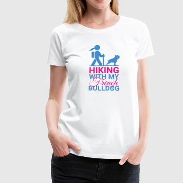 HIKING FRENCH BULLDOG - Women's Premium T-Shirt