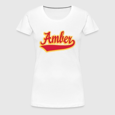 Amber - Name as a sport swash - Women's Premium T-Shirt
