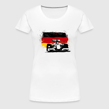 Formula One -  German Flag - Frauen Premium T-Shirt