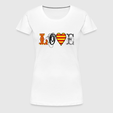 Love Catalonia Black - Frauen Premium T-Shirt