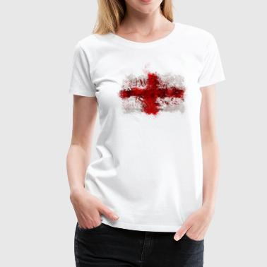 English Flag Graffiti - Women's Premium T-Shirt