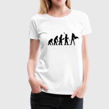 Evolution Superheldin Heldin Power Girl Geschenk - Frauen Premium T-Shirt